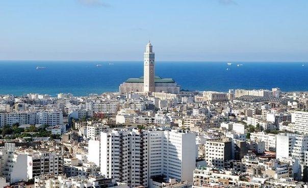 Une vue aérienne de Casablanca (Maroc).