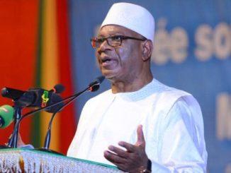 Le président de la République du Mali, Ibrahim Boubacar Keita, dit IBK.