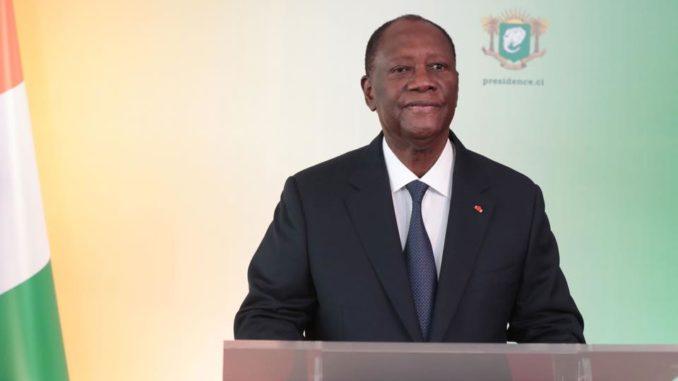 Alassane Ouattara, president de la République de Côte d'Ivoire.